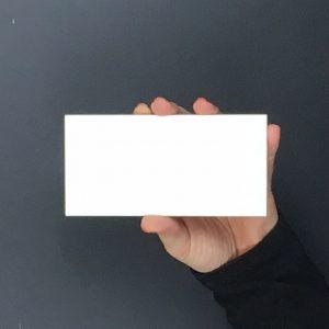 Bevelled White Gloss Image
