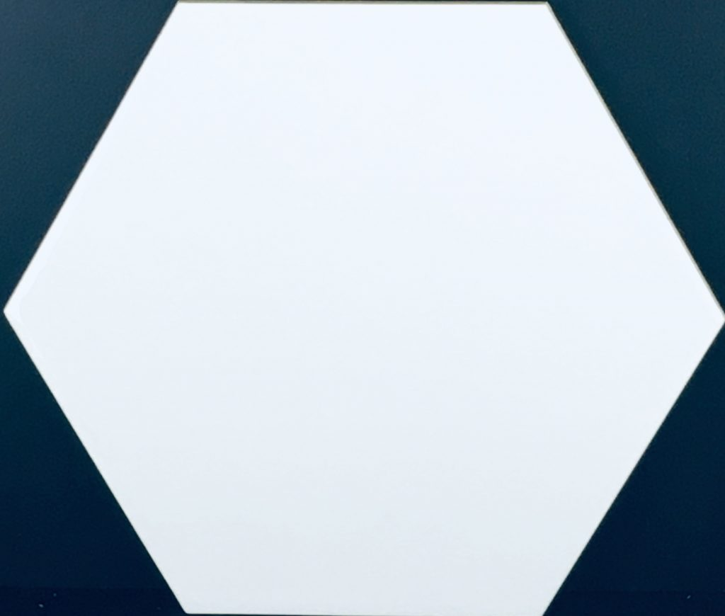 Gloss White Hickory Hexagon Image