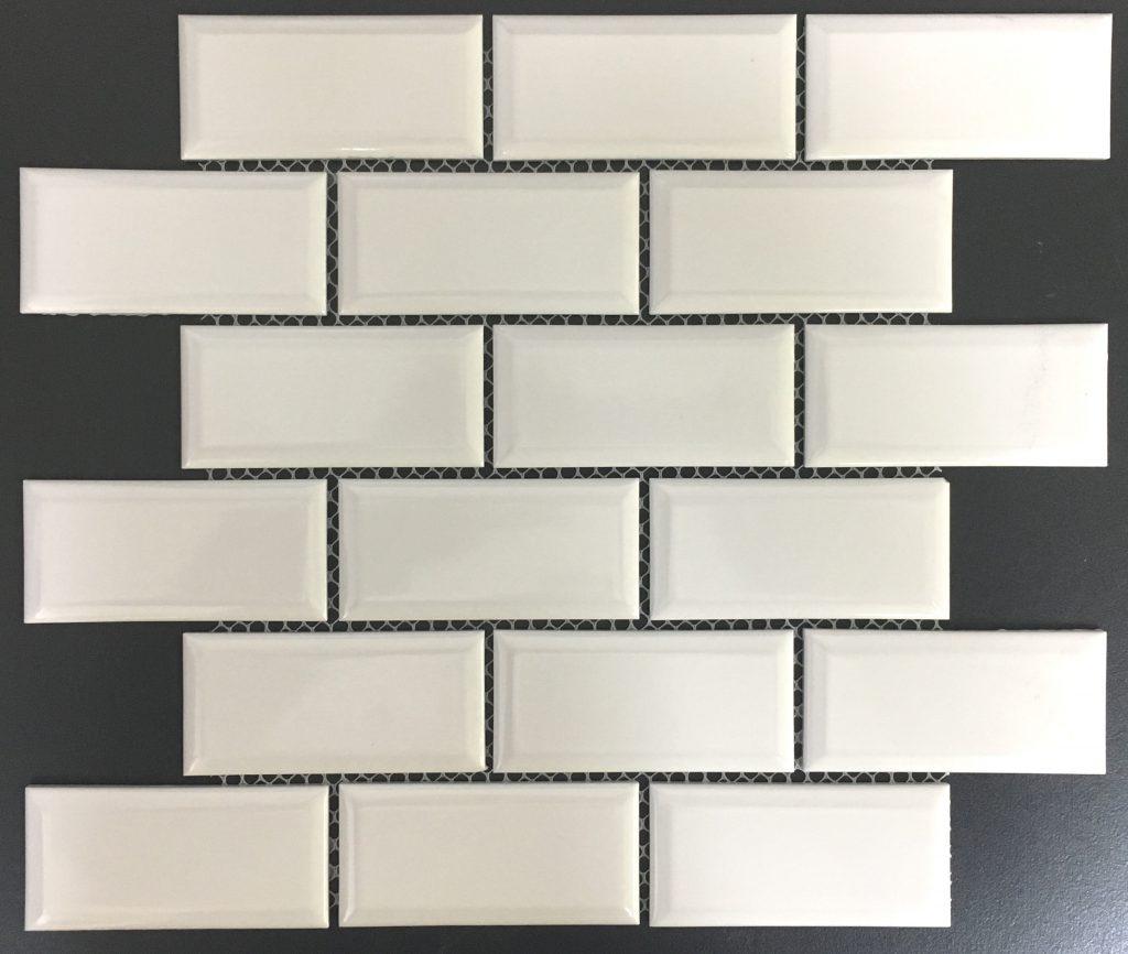Bevilled White Mosaic Image